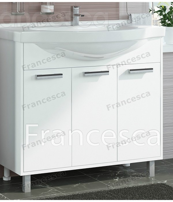 Тумба с раковиной Francesca Eco 90 белый
