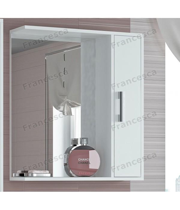 Шкаф-зеркало Francesca Eco 65 белый