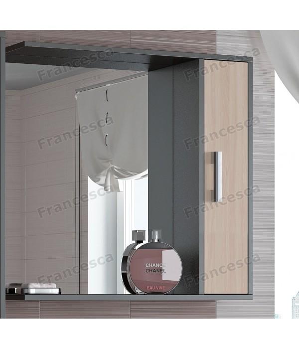 Шкаф-зеркало Francesca Eco 75 дуб-венге