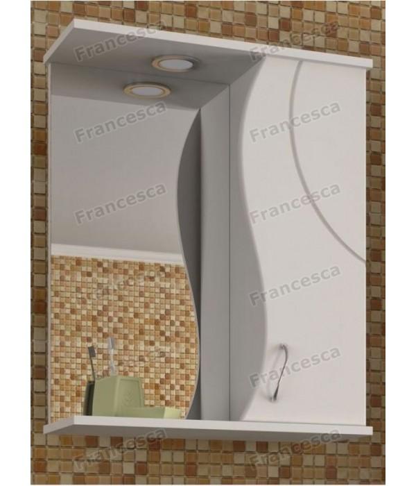 Шкаф-зеркало Francesca Доменика 55 белый