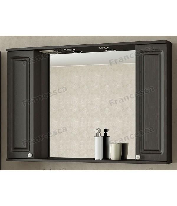 Шкаф-зеркало Francesca Империя 105 венге (2 шкафа)