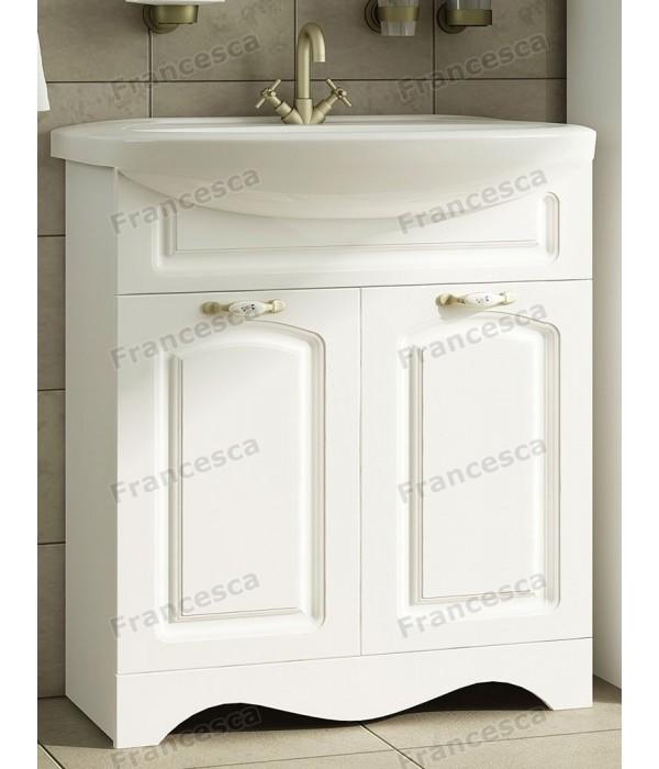 Тумба с раковиной Francesca Империя 70 белый (2 двери, ум. Балтика 70)