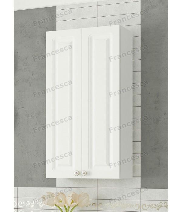 Шкаф навесной  Francesca Империя 40 белый (2дв.)