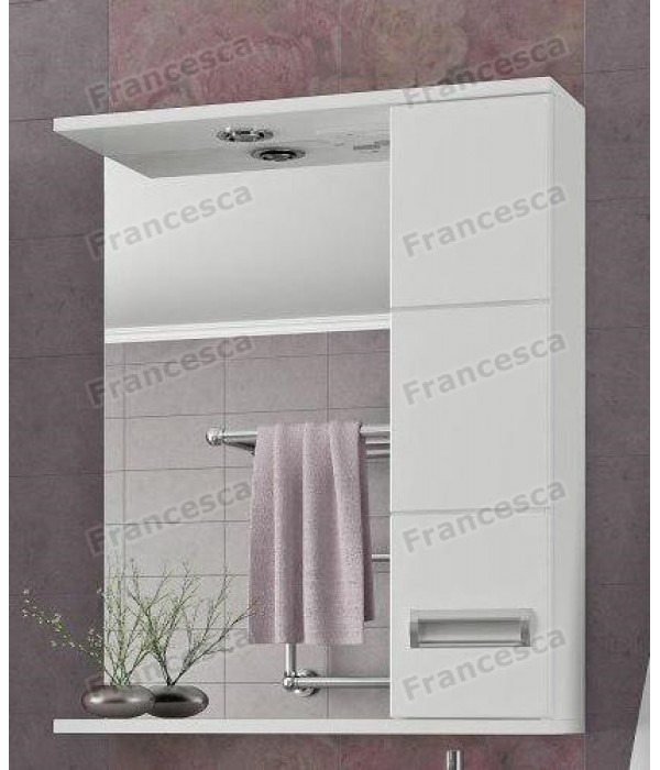 Зеркало-шкаф  Francesca Кубо 60 С белый