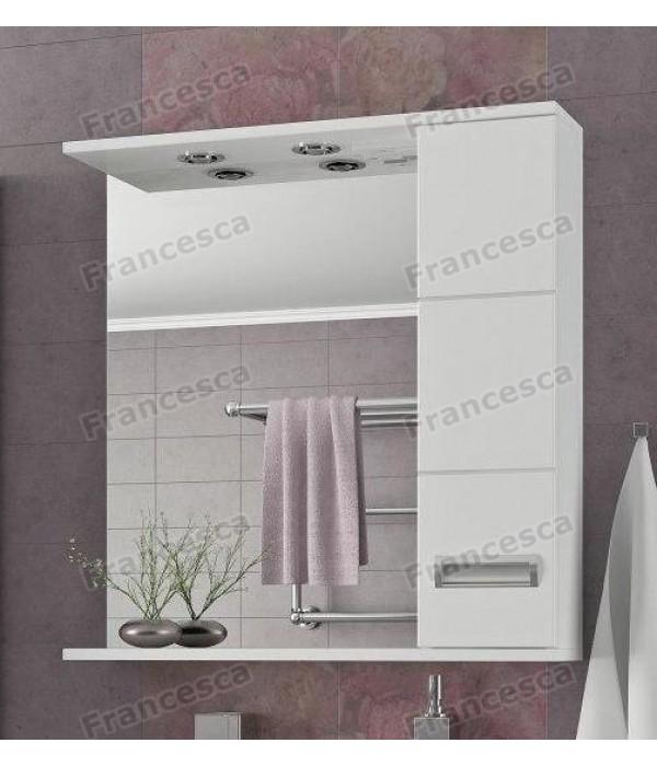 Зеркало-шкаф  Francesca Кубо 70 2С белый