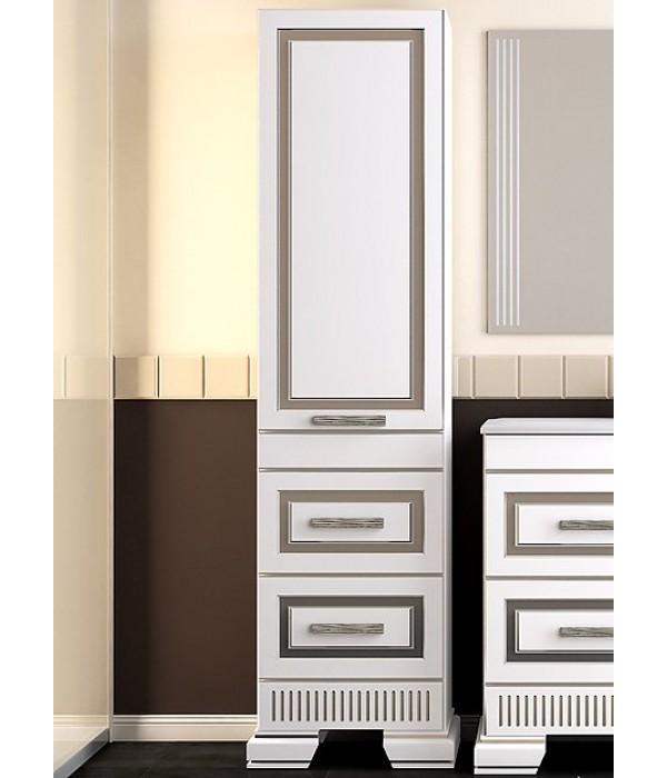 Пенал Opadiris Оникс 50, белый/серебро