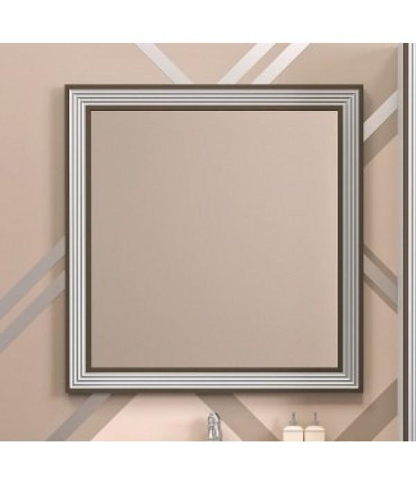 Зеркало Opadiris Карат 80, белый/серебро