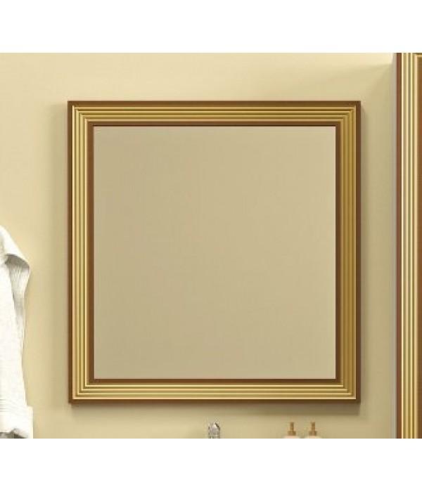 Зеркало Opadiris Карат 80, белый/золото