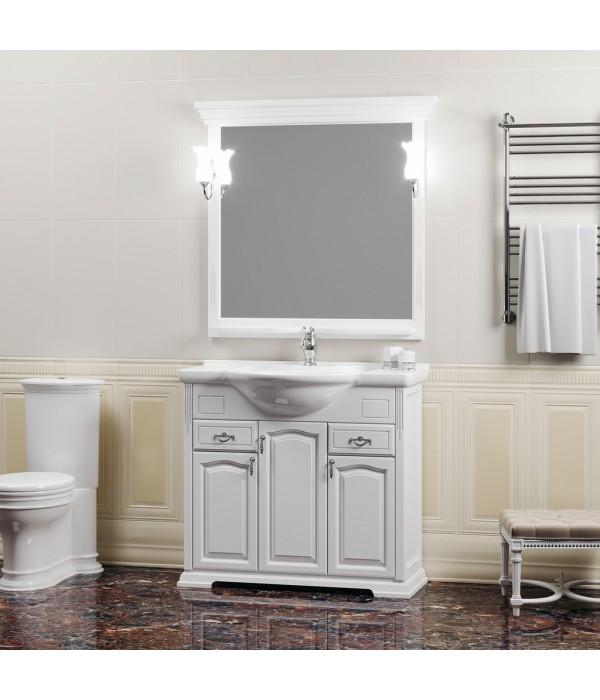 Комплект мебели Opadiris Риспекто 95 белый матовый