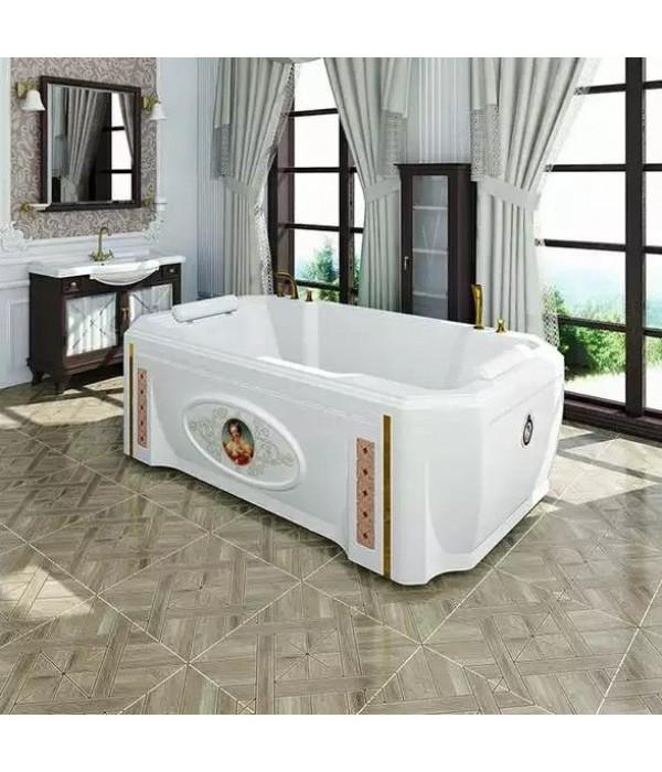 Акриловая ванна RADOMIR Фонтенбло с возможностью установки гидромассажа отдельностоящая