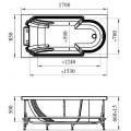 Акриловая ванна RADOMIR Анабель с возможностью установки гидромассажа