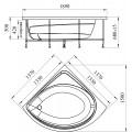 Акриловая ванна RADOMIR Эмилия с возможностью установки гидромассажа