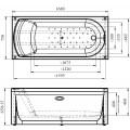 Акриловая ванна RADOMIR Кэти 168х75 с возможностью установки гидромассажа