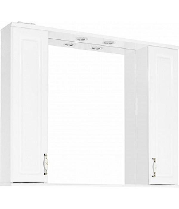 Зеркало-шкаф Style Line Олеандр-2 100/С Люкс, белый