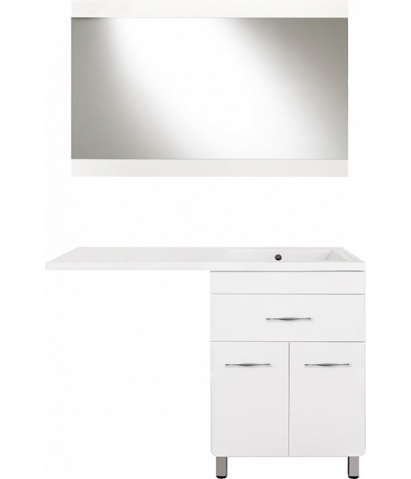 Комплект мебели Style Line Валеро 120 Люкс Plus, белая