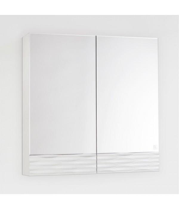 Зеркало-шкаф Style Line Ассоль 70 Люкс, техно платина