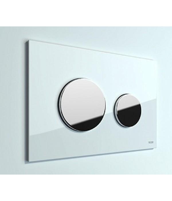 Кнопка смыва TECE Loop 9240627 белая, кнопка хром