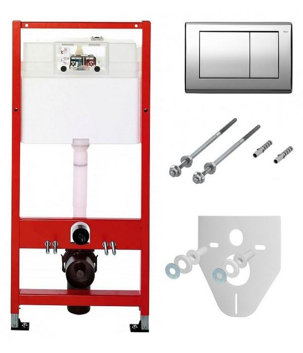 Система инсталляции для унитазов TECE Planus К 400 321 4 в 1 с кнопкой смыва