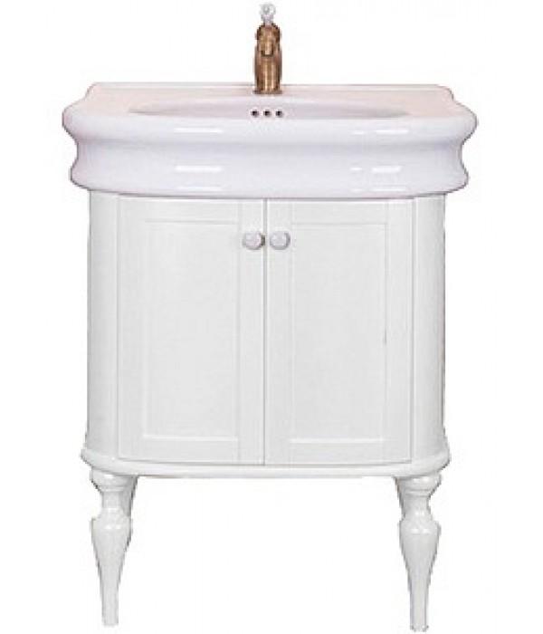 Тумба с раковиной Tiffany World Palermo 7701, белый