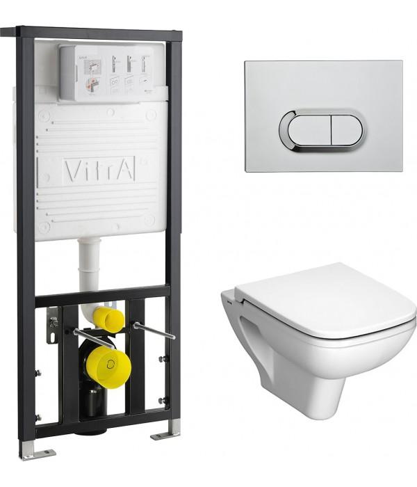 Комплект VitrA S20 9004B003-7204 кнопка хром