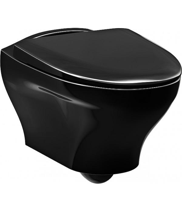 Унитаз подвесной Gustavsberg Estetic Hygienic Flush черный
