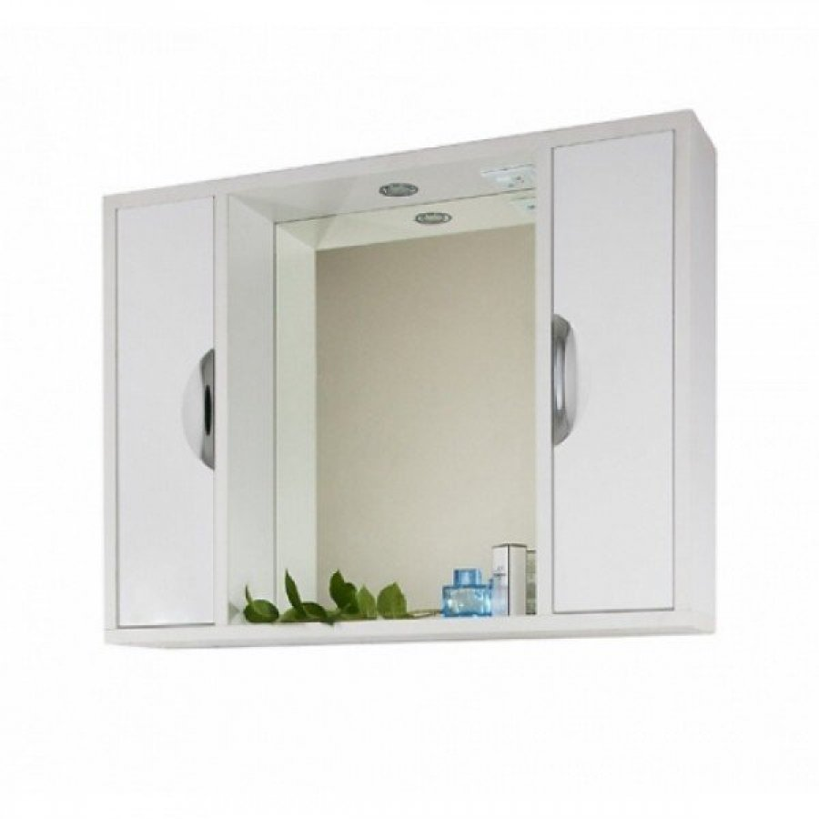 Зеркало шкаф для ванной 90 1.9, белый