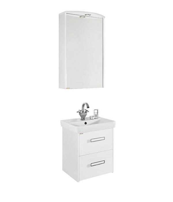 Комплект мебели для ванной  50 с ящиками 1.2, белый