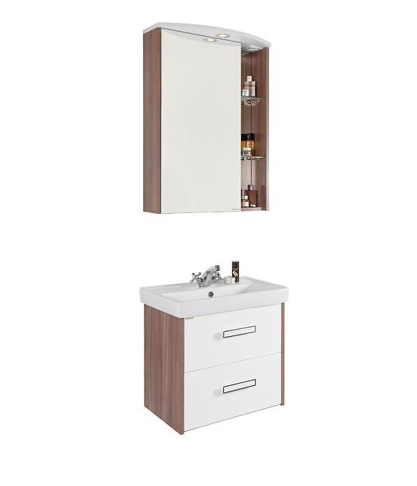 Комплект мебели для ванной 60 с ящиками 1.2, ясень