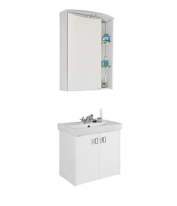 Комплект мебели для ванной 60 1.2, белый