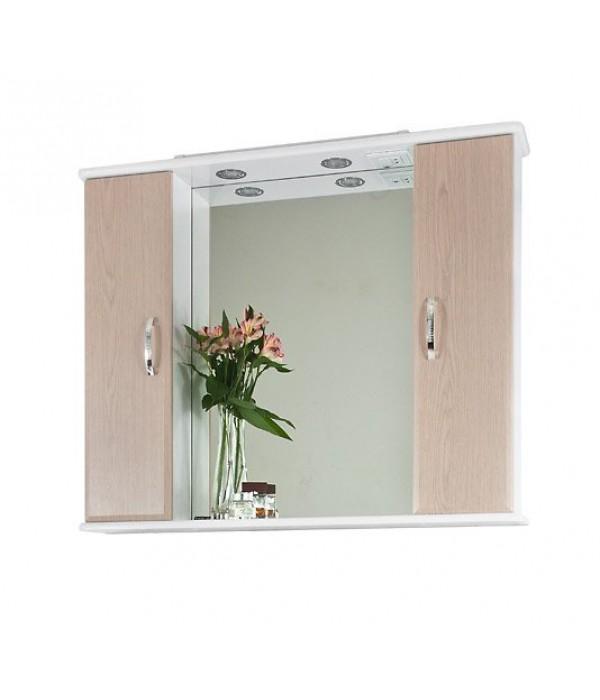 Зеркало-шкаф 105 1.5, дуб