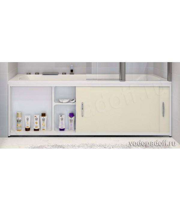 Экран под ванну с полочкой Francesca Premium 1.5/1.7/1.8 кремовый