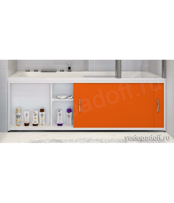 Экран под ванну с полочкой Francesca Premium 1.5/1.7/1.8 оранжевый