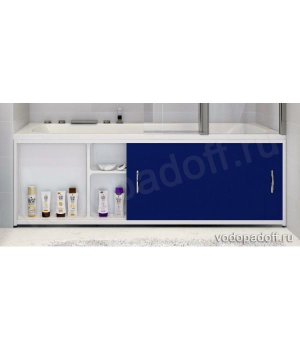 Экран под ванну с полочкой Francesca Premium 1.5/1.7/1.8 синий