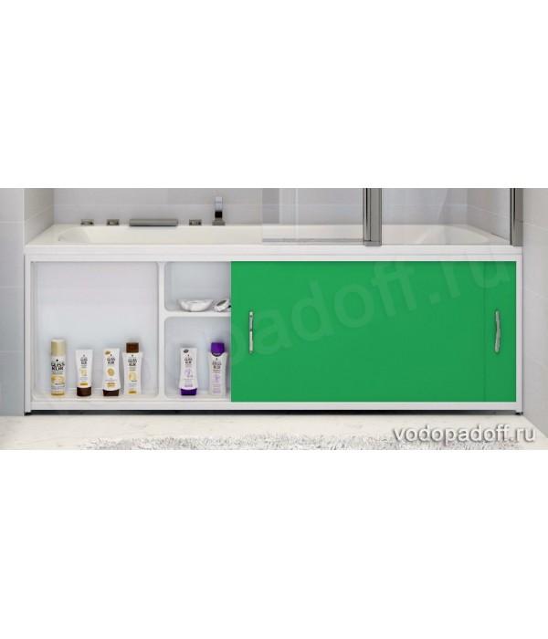 Экран под ванну с полочкой Francesca Premium 1.5/1.7/1.8 зелёный