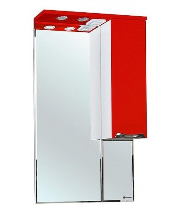 Зеркало-шкаф Bellezza Альфа 65, красный