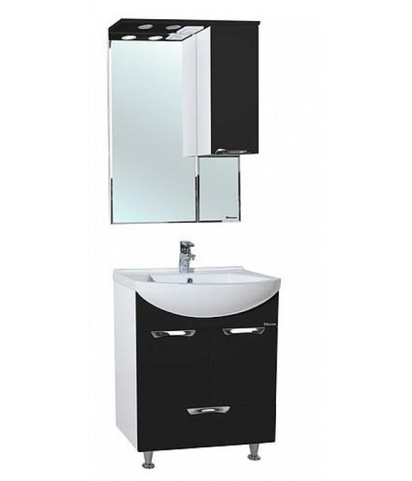 Комплект мебели Bellezza Альфа 55 с нижним ящиком, черный