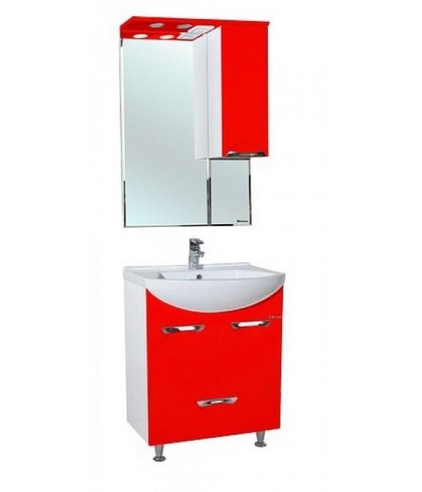 Комплект мебели Bellezza Альфа 55 с нижним ящиком, красный