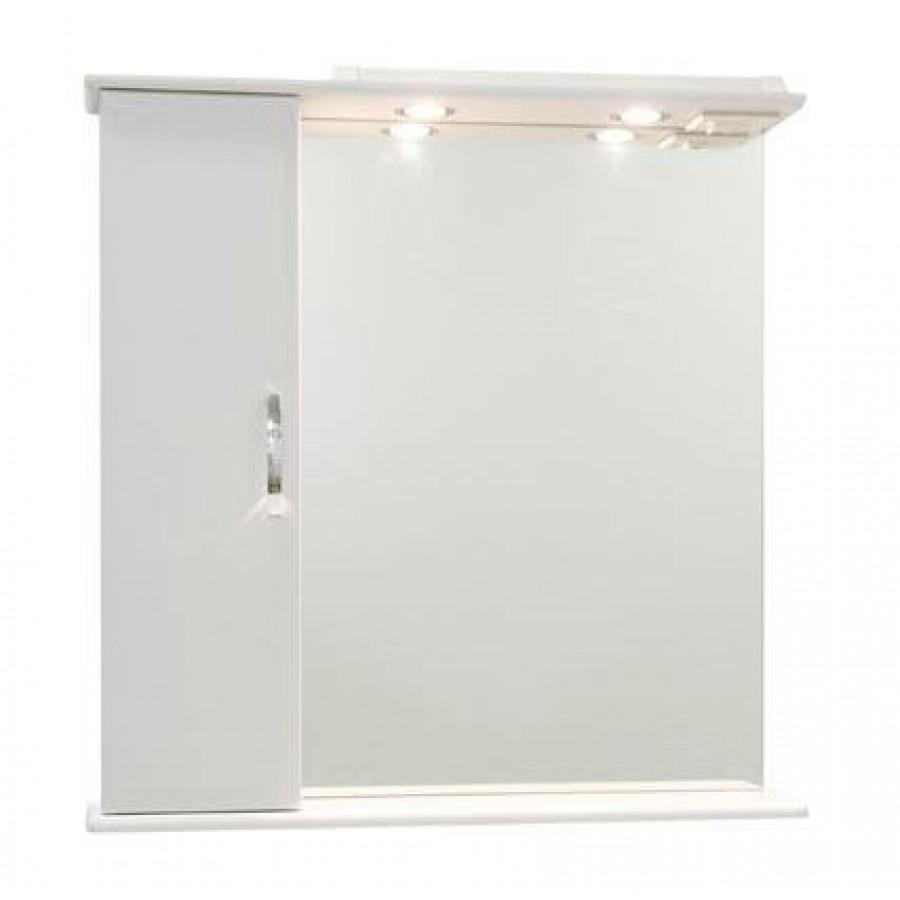 Зеркало для ванной 75 1.5, белый, левое