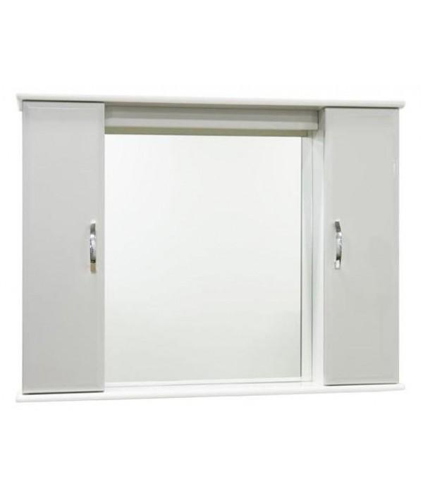 Зеркало для ванной 105 см без освещения 1.33, белый