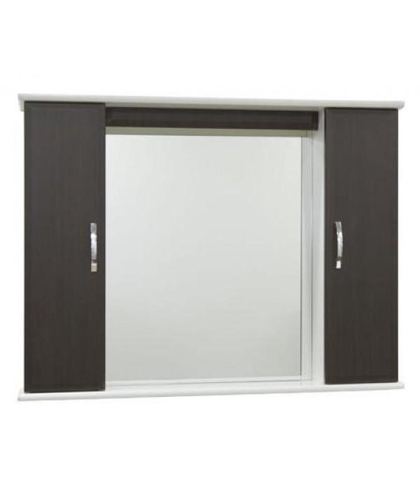 Зеркало для ванной 105 см без освещения 1.33, венге