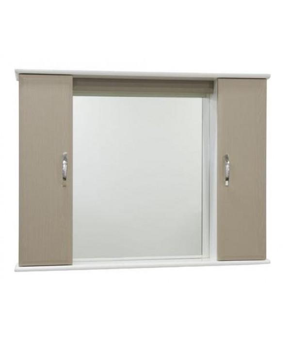 Зеркало для ванной 105 см без освещения 1.33, дуб