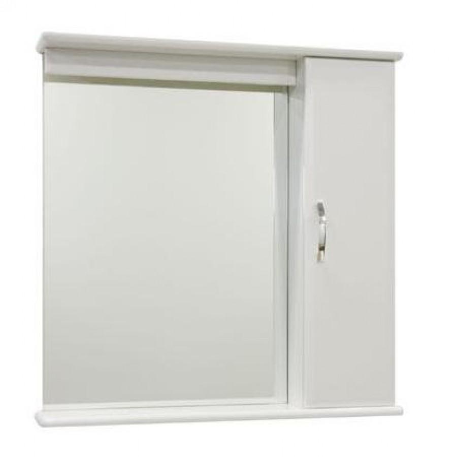 Зеркало для ванной 75 см с освещением 1.33, белый