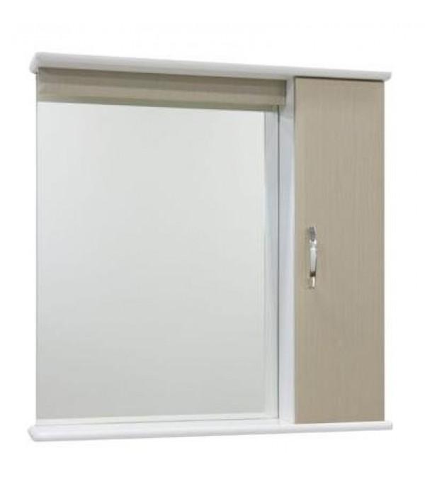 Зеркало для ванной 75 см без освещения 1.33, дуб