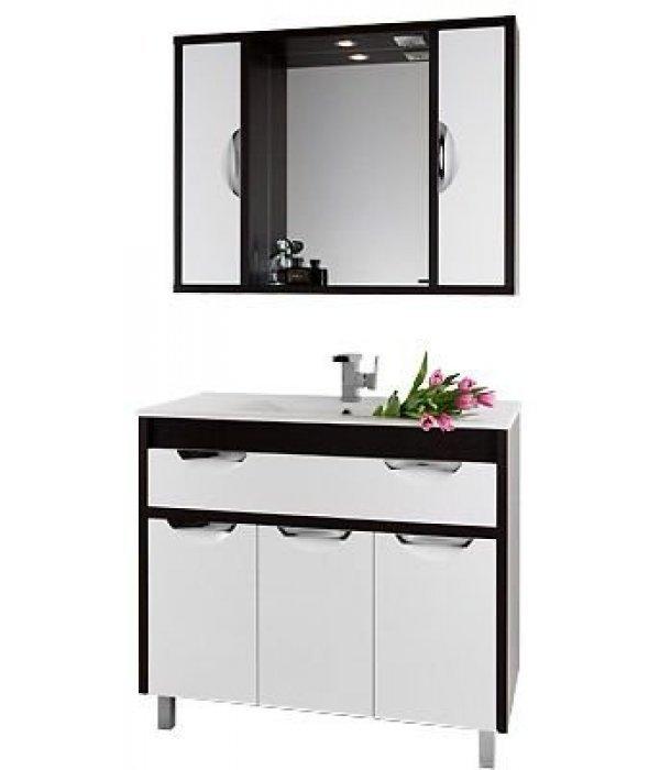 Комплект мебели 100 1.9, белый/венге
