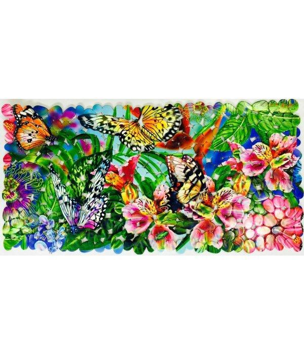 Коврик 70х36 тропические бабочки