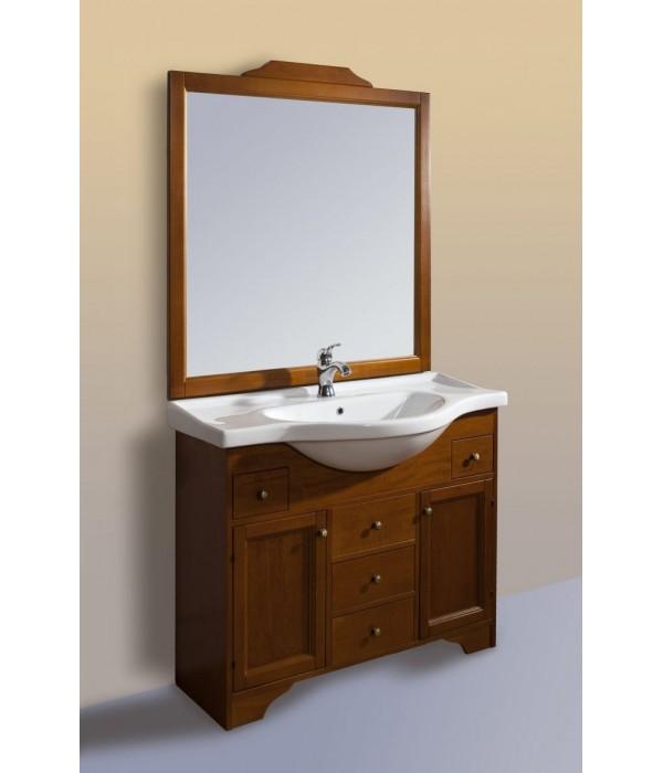 Комплект мебели Bagno Piu Seviglia 105 Орех (5  ящиков / 2 дверцы)