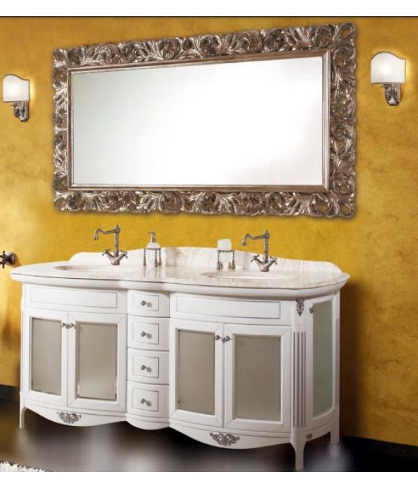 Комплект мебели Bagno Piu Poesia 188 2B Белый матовый с серебром