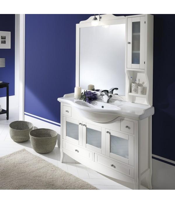 Комплект мебели Bagno Piu Sophia 105 Белый матовый с дверцами под стекло