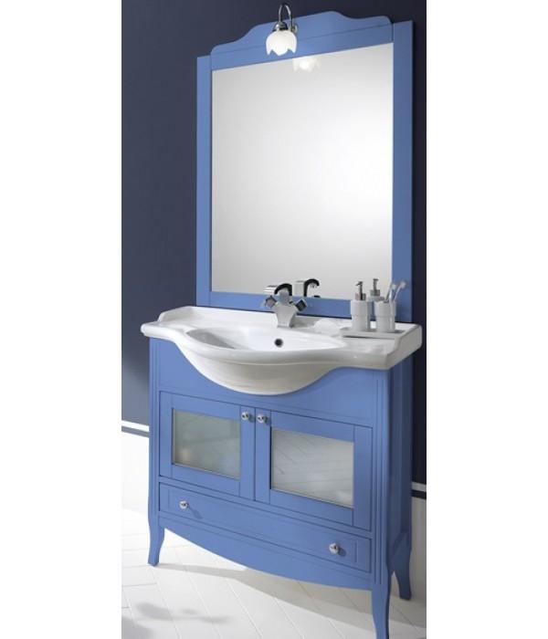 Комплект мебели Bagno Piu Sophia 85 голубой с дверцами под стекло