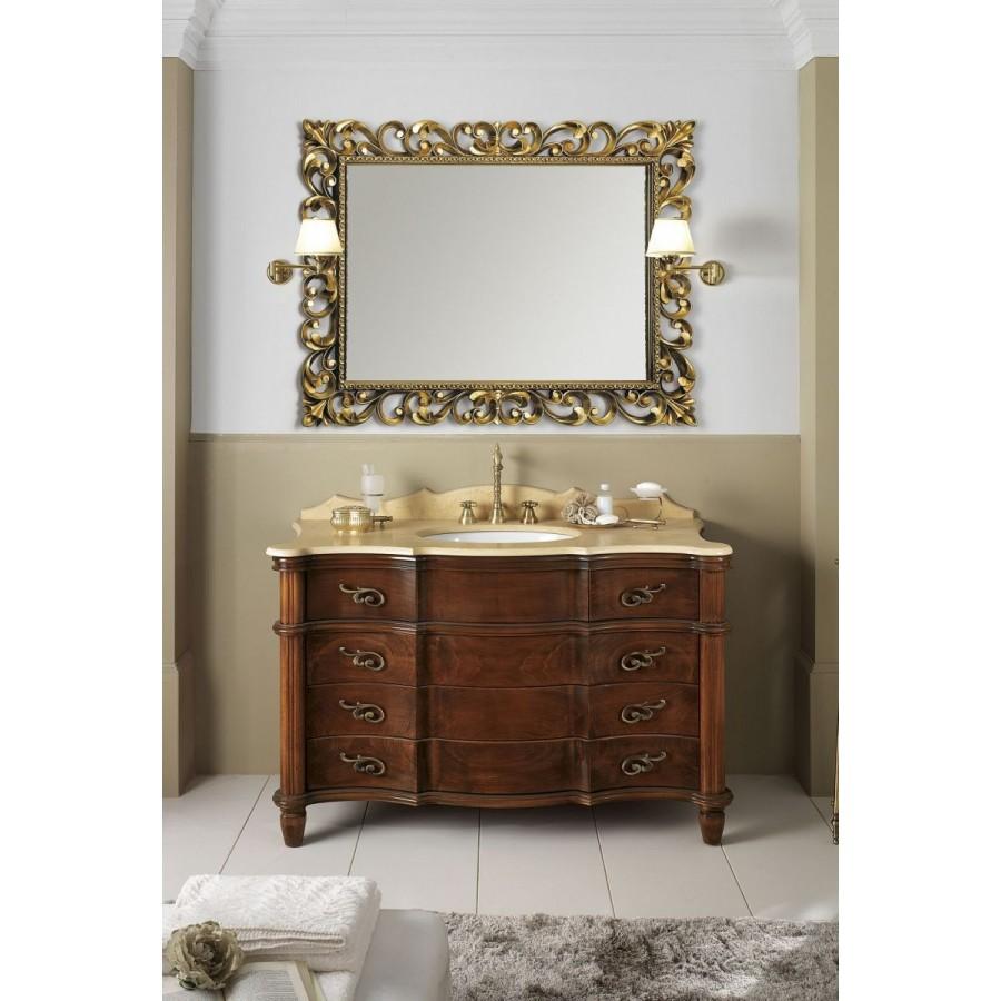 Комплект мебели Bagno Piu Tiffany 138 Орех с золотом
